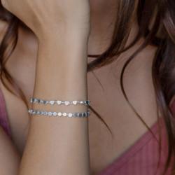 vestopazzo bracciale elastico cuori micro sfere placcato argento donna