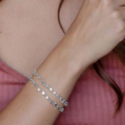 vestopazzo bracciale elastico stelle micro sfere placcato argento donna