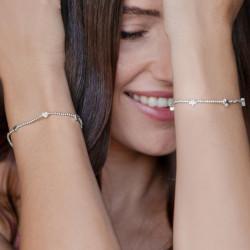 vestopazzo bracciale elastico 6 cuori placcato argento donna