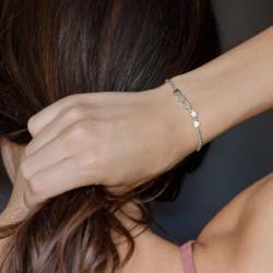 vestopazzo bracciale elastico 2 stelle e 3 cuori placcato argento donna