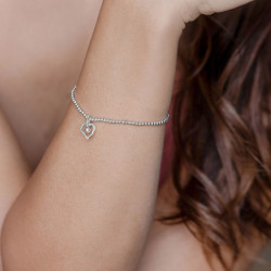 vestopazzo bracciale elastico sagoma cuore irregolare placcato argento donna