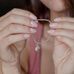 vestopazzo bracciale elastico pigna placcato argento donna