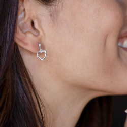 vestopazzo orecchini pendente rosa dei venti placcato argento donna