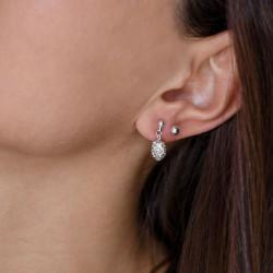vestopazzo orecchini sfera piccola e pendenti pigna placcato argento donna