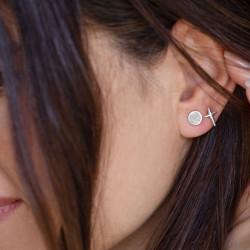 vestopazzo orecchini croce e tondo placcato argento donna