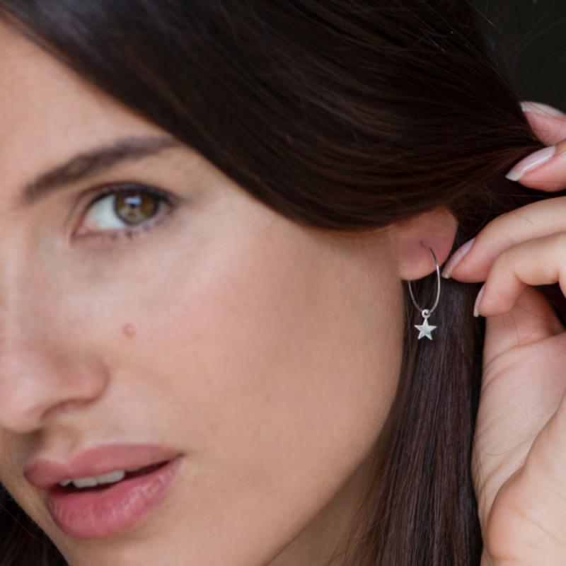 vestopazzo orecchini micro filo cuore piatto placcato argento donna