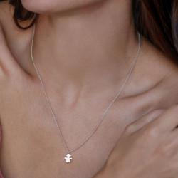 vestopazzo collana charm girl placcato argento donna