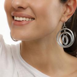 Vestopazzo alluminio cerchi orecchini AL17332
