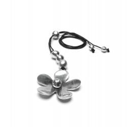 vestopazzo alluminio collana donna fiore convesso