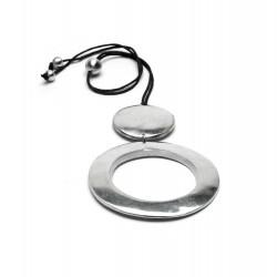 vestopazzo alluminio collana donna ronde + ronde a trou