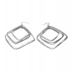 vestopazzo alluminio orecchini donna 3 carre fine
