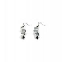 vestopazzo alluminio orecchini donna 3 cubi
