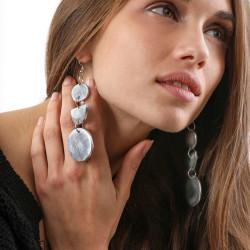 vestopazzo alluminio orecchini donna 2 ronde e demilune foto