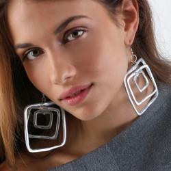 vestopazzo alluminio orecchini donna 3 gran carre foto