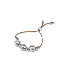 vestopazzo alluminio bracciale donna 3 boule filo colore corda