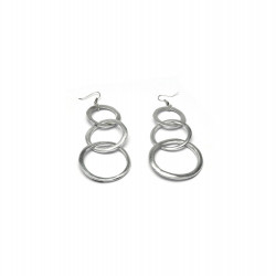 vestopazzo alluminio orecchini donna 3 ronde chaine
