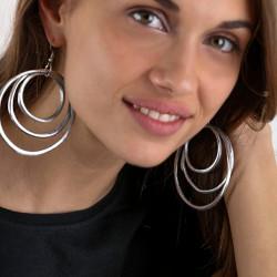 vestopazzo alluminio orecchini donna 3 ronde fine foto