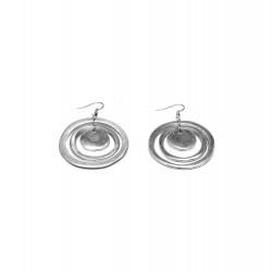 vestopazzo alluminio orecchini donna 3 tondi concentrici