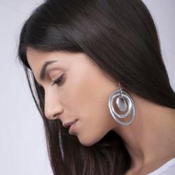 vestopazzo alluminio orecchini donna 3 tondi concentrici foto