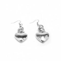 vestopazzo alluminio orecchini donna coeur bombe et boule