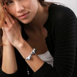 vestopazzo alluminio bracciale donna 3 coeur filo colore nero