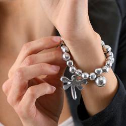 vestopazzo alluminio bracciale elastico donna boule annexe libellule e boule