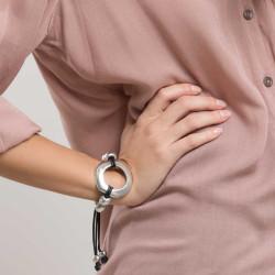 vestopazzo alluminio bracciale donna fil noir tondo filo colore nero
