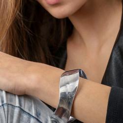 vestopazzo alluminio bracciale donna 2 cm irregulier creux