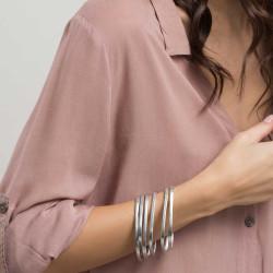 vestopazzo alluminio bracciale donna tondi lisci set 6 pz