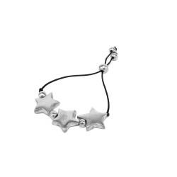 vestopazzo alluminio bracciale donna 3 etoile filo colore nero