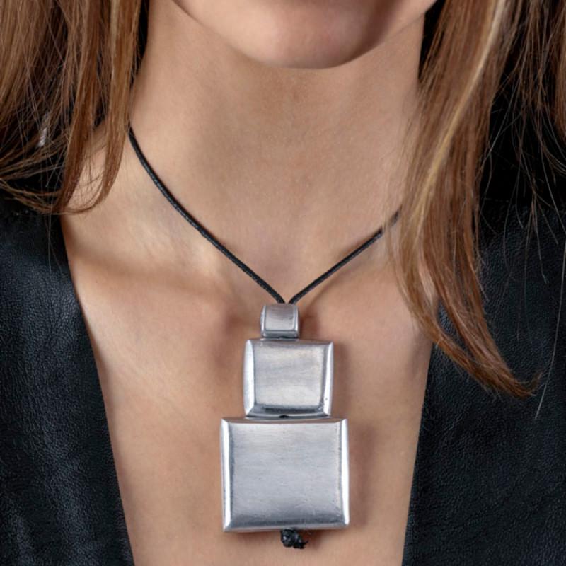 vestopazzo alluminio collana donna 2 carre bombe platte