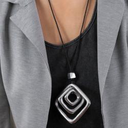 vestopazzo alluminio collana donna 3 losanges bombe nm foto