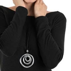 vestopazzo alluminio collana donna 3 rondes bombe nm foto