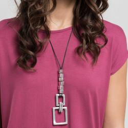 vestopazzo alluminio collana donna 6 cubi + rectangle foto