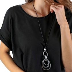 vestopazzo alluminio collana donna 6 ovale foto