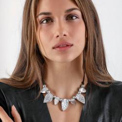 vestopazzo alluminio collana donna 7 goutte pointu et boule foto 2