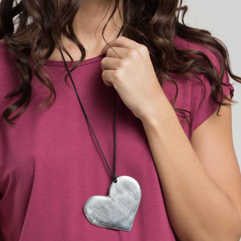 vestopazzo alluminio collana donna cuore foto