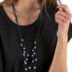 vestopazzo alluminio collana donna multi boule foto