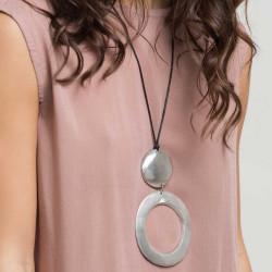vestopazzo alluminio collana donna ronde + ronde a trou foto