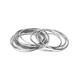 vestopazzo alluminio bracciale donna set 10 pz