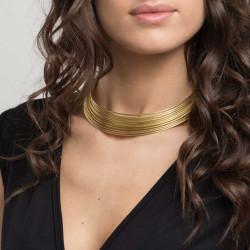 vestopazzo ottone girocollo donna rigido multi fili foto