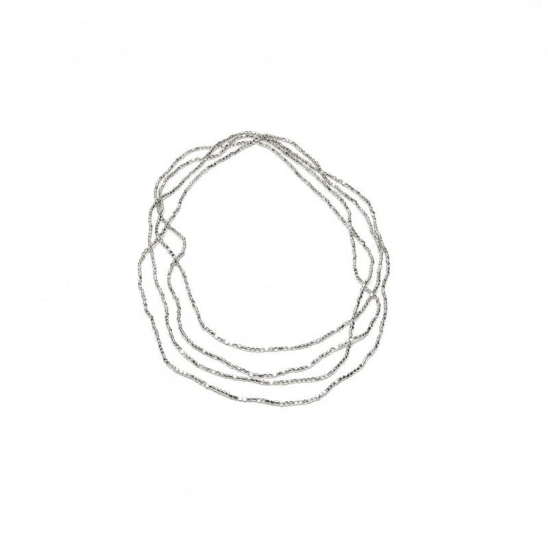 Collana 180 Cm Micropepite Placcato Argento